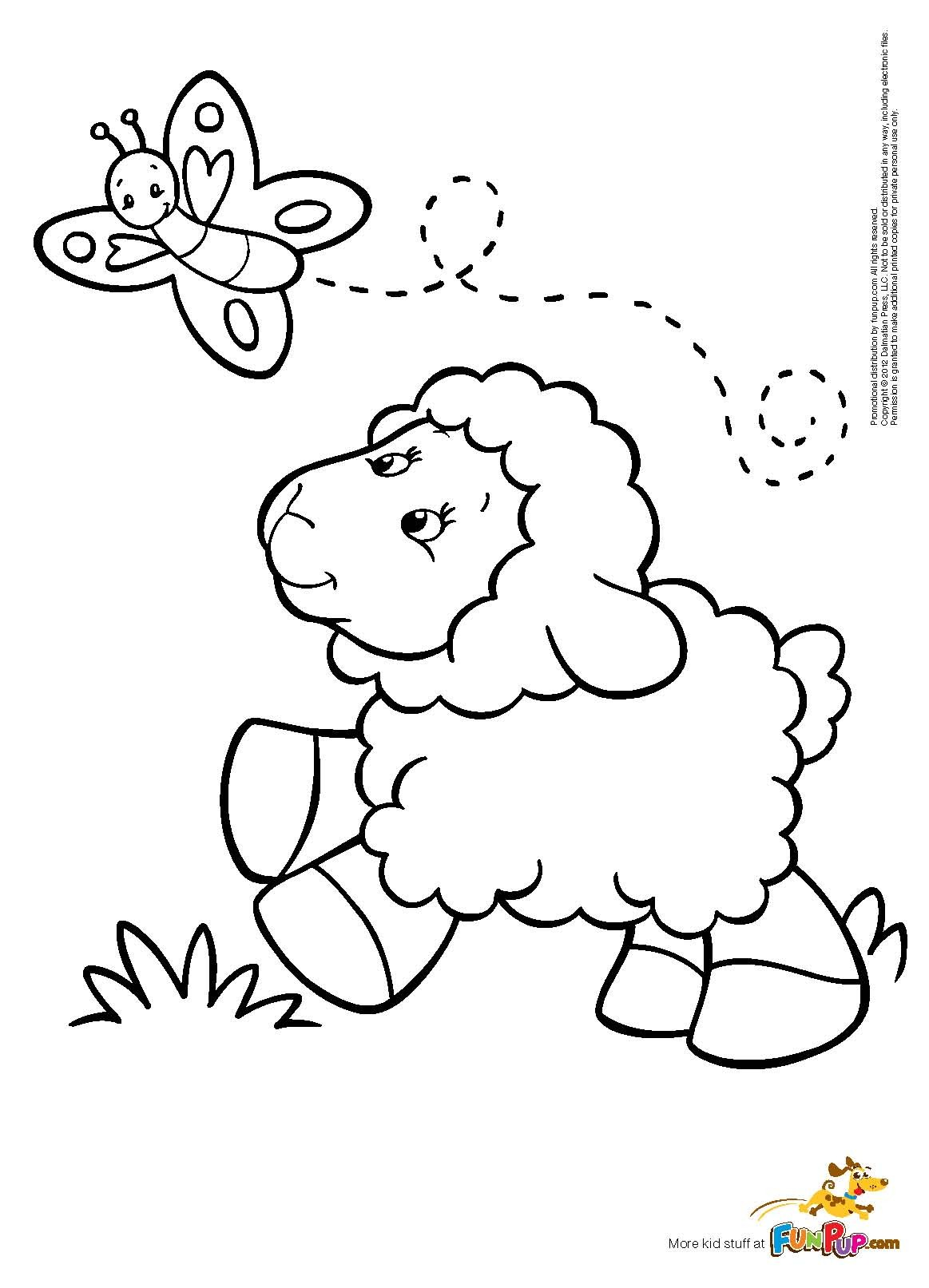Drawn sheep coloring Free Butterfly Coloring Coloring Sheep