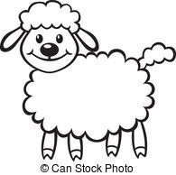 Drawn sheep clipart Little Stock little contour 8