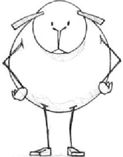 Drawn sheep funny Drawing Lambs  How Funny