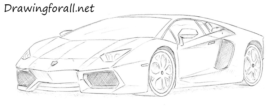 Drawn vehicle lamborghini DrawingForAll Lamborghini drawing Draw How