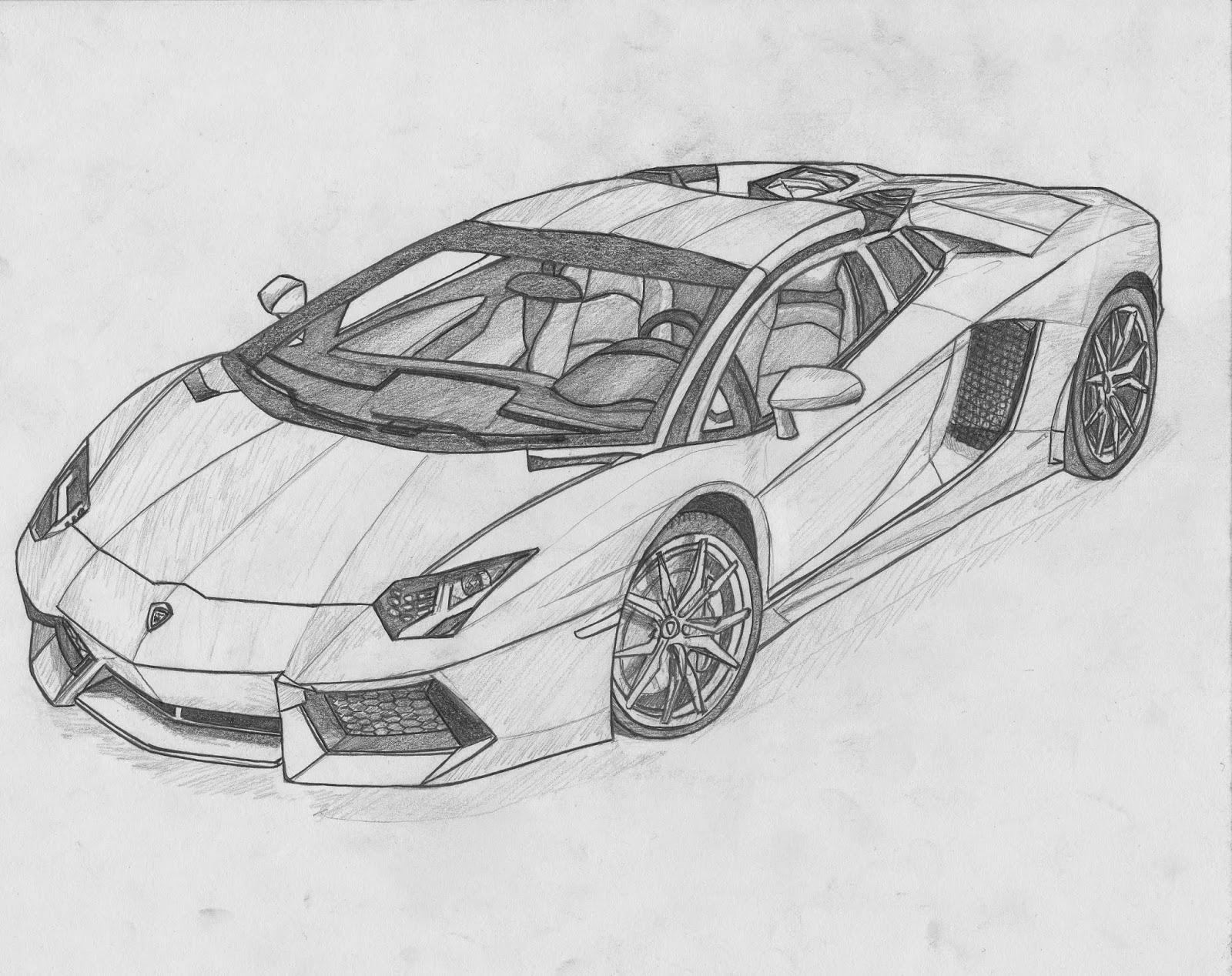 Drawn vehicle lamborghini Veneno Drawing White for Black