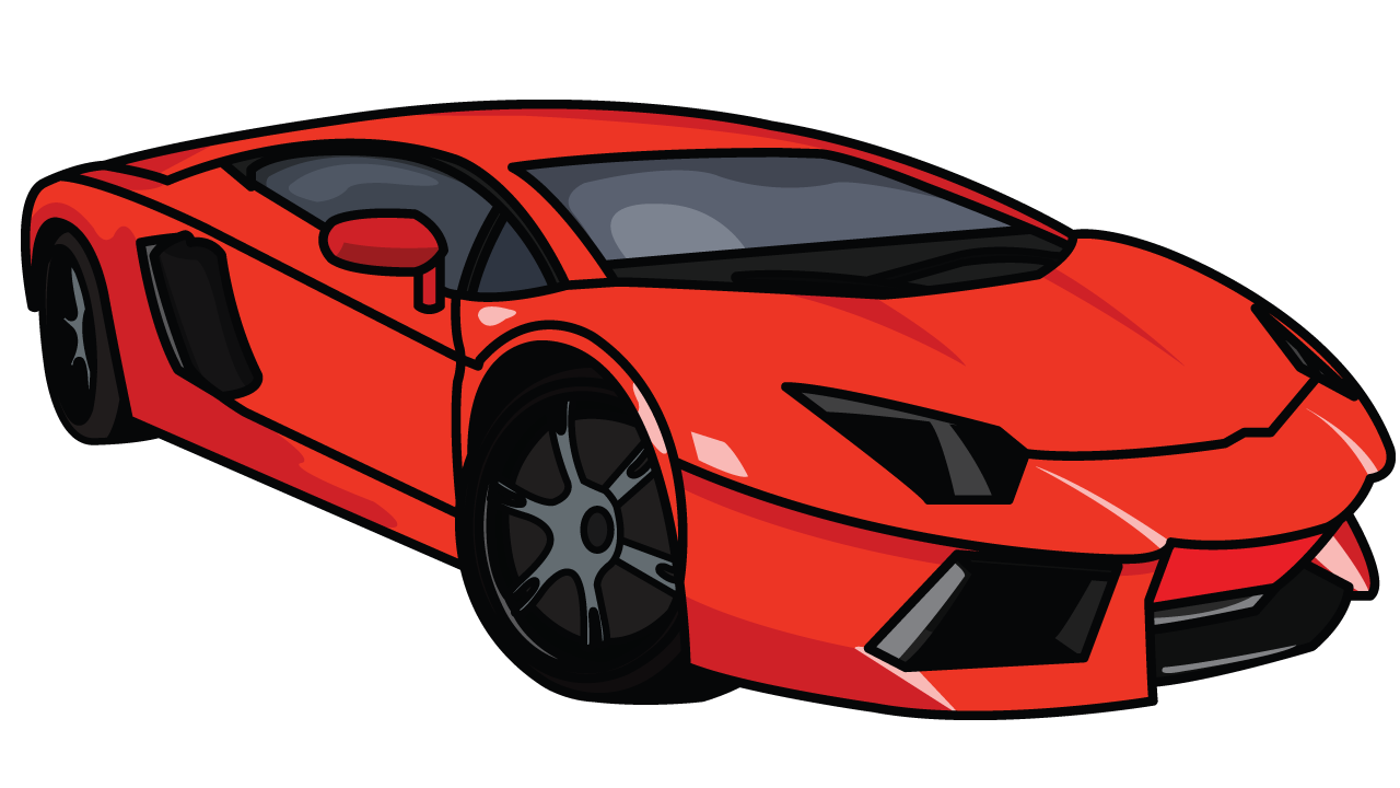 Drawn vehicle lamborghini To  step Tutorial Aventador