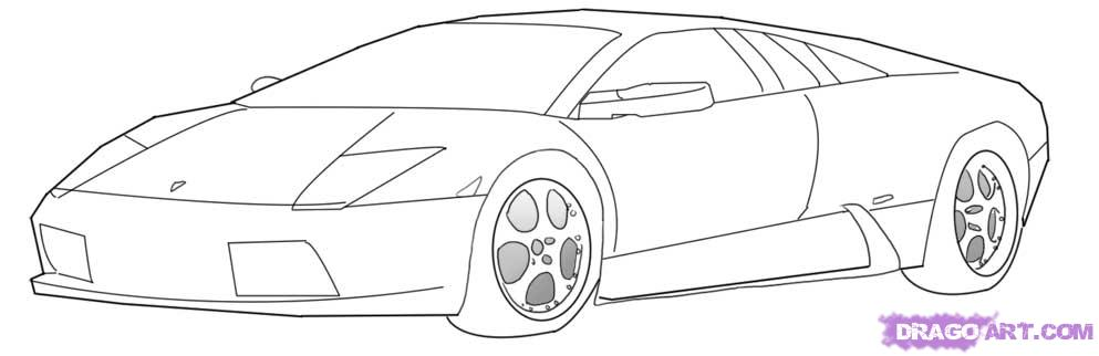 Drawn vehicle lamborghini A How 6 to lamborghini