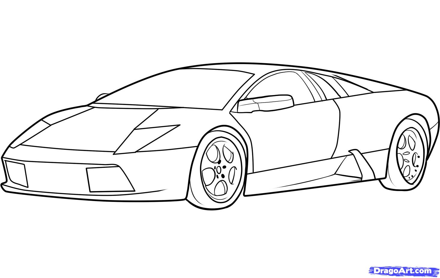 Drawn vehicle lamborghini L Draw to to Drawings
