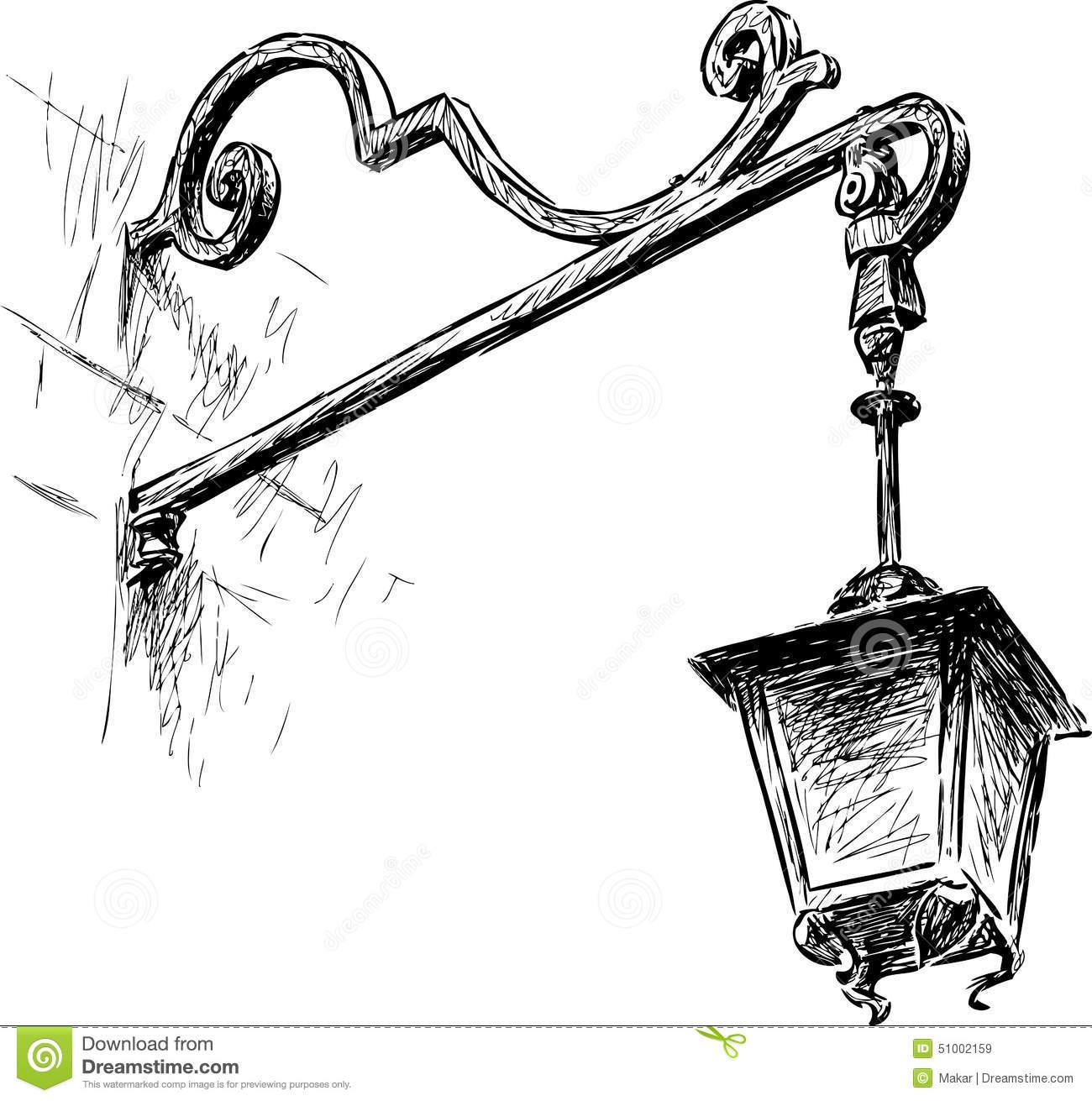 Drawn lamp Draw Google lamp lamp street