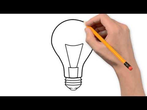 Drawn lamp Step bulb pencil light step