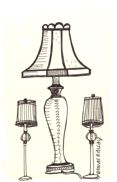 Drawn lamps Silk Book From Sketch Maine