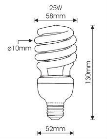 Drawn lamp cfl bulb Timple  ROHS View SIO9001)