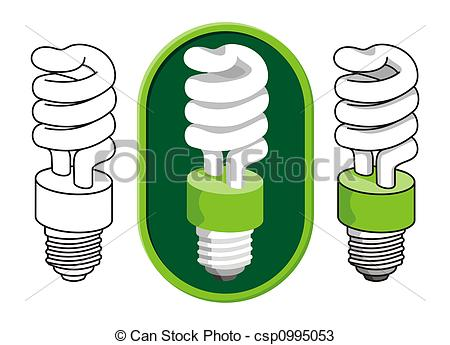 Drawn bulb cfl bulb Light Spiral csp0995053  of