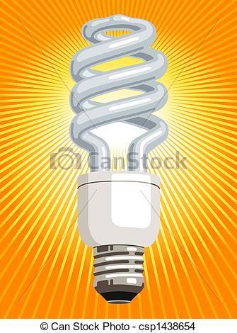 Drawn lamp cfl bulb CFL  (compact light of
