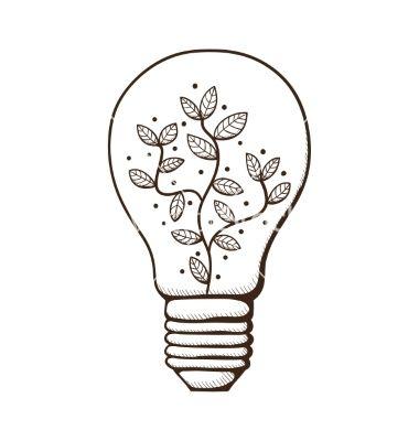 Drawn lamp light globe Leaves VectorStock® bulb Best by