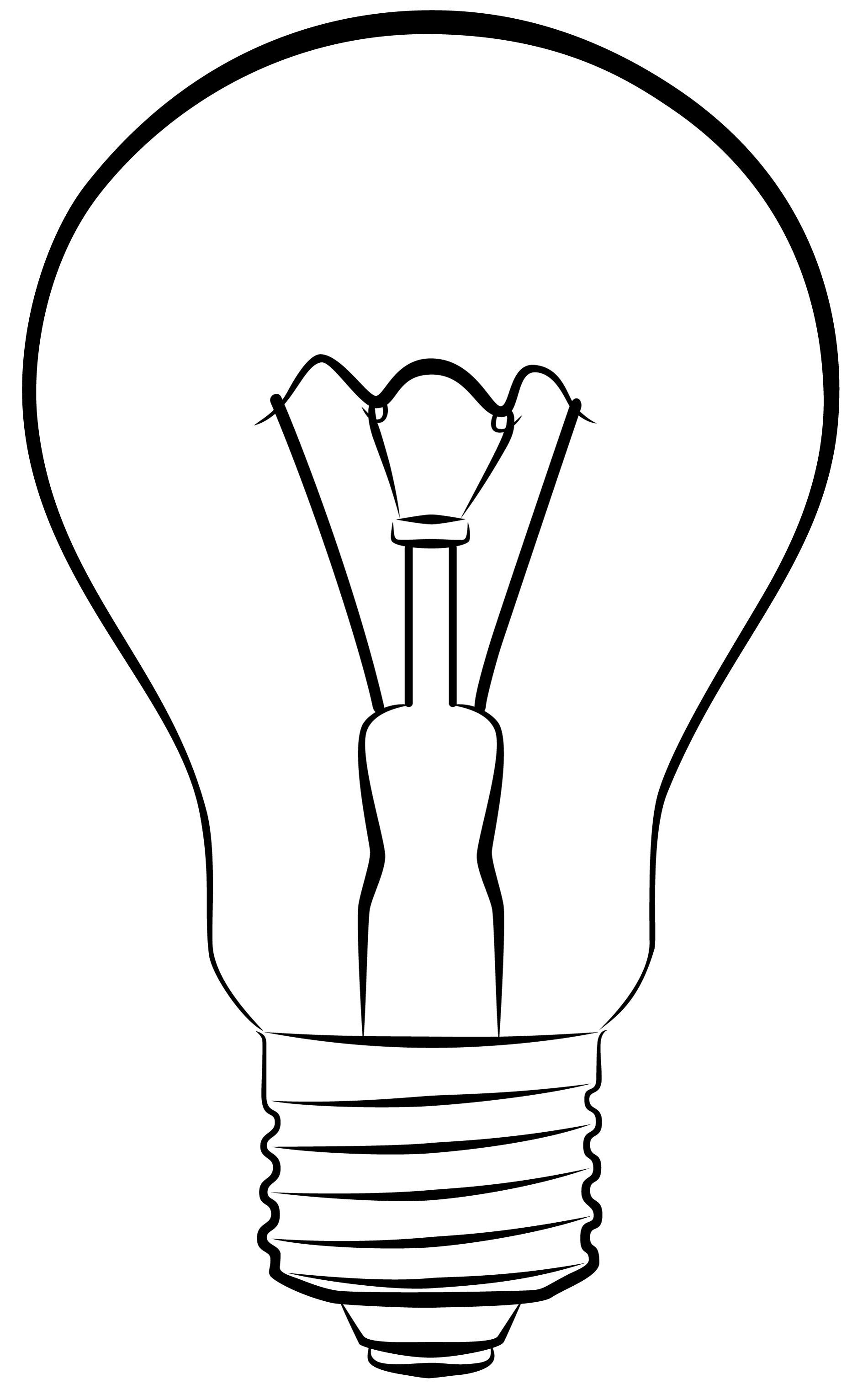 Drawn lamp light globe Thinking Bulb light Clip loss