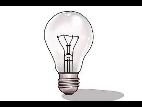 Drawn lamp light globe A a to How bulb