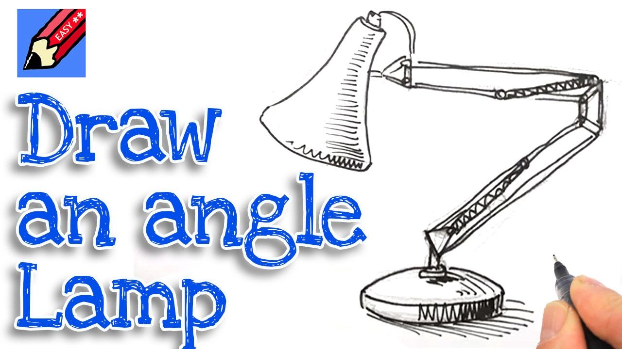 Drawn bulb pixar lamp Real anglepoise easy draw to