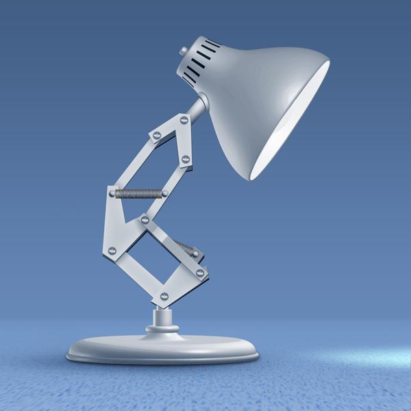 Drawn bulb pixar lamp Using Photoshop a Lamp Image