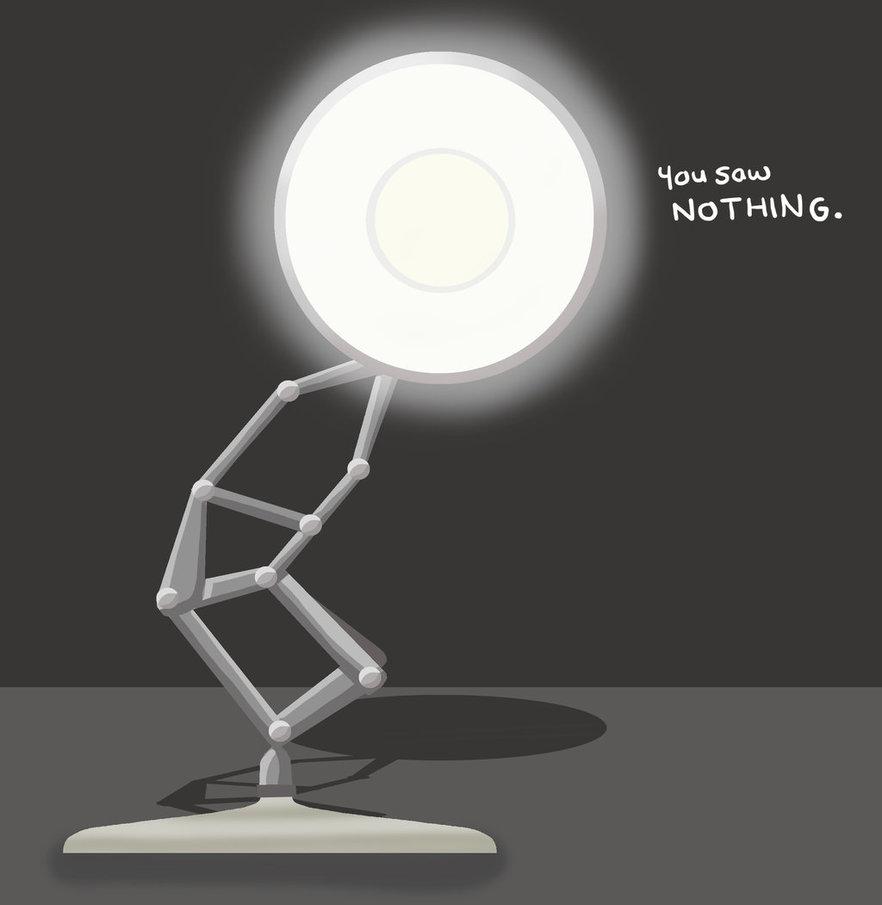 Drawn bulb pixar lamp By DeviantArt Blaccat8 #5 by