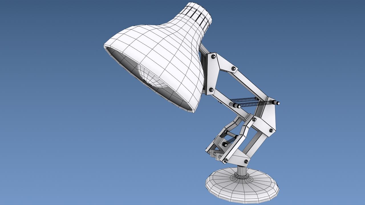 Drawn bulb pixar lamp Luxo Jr A lamp Pixar