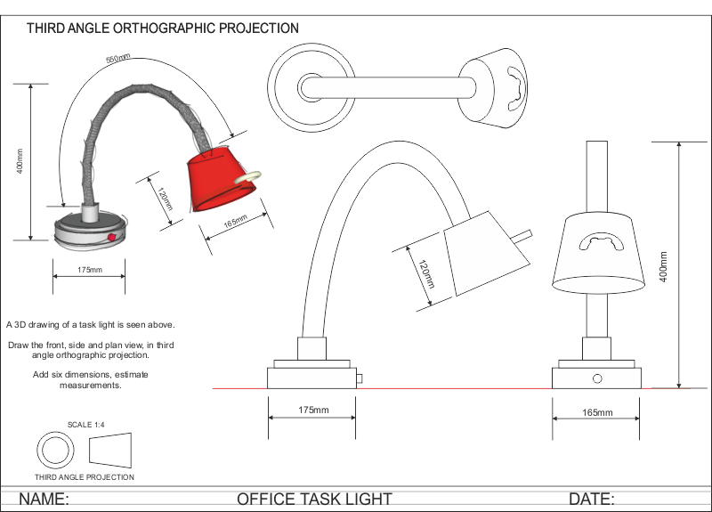 Drawn lamp technical drawing LIGHT include and an ANGLE