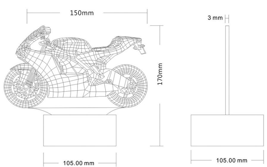 Drawn lamp cartoon Color – Motorcycle Gearzapper
