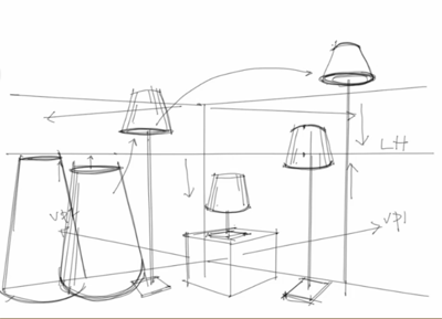Drawn lamp technical drawing Lamps to How draw draw