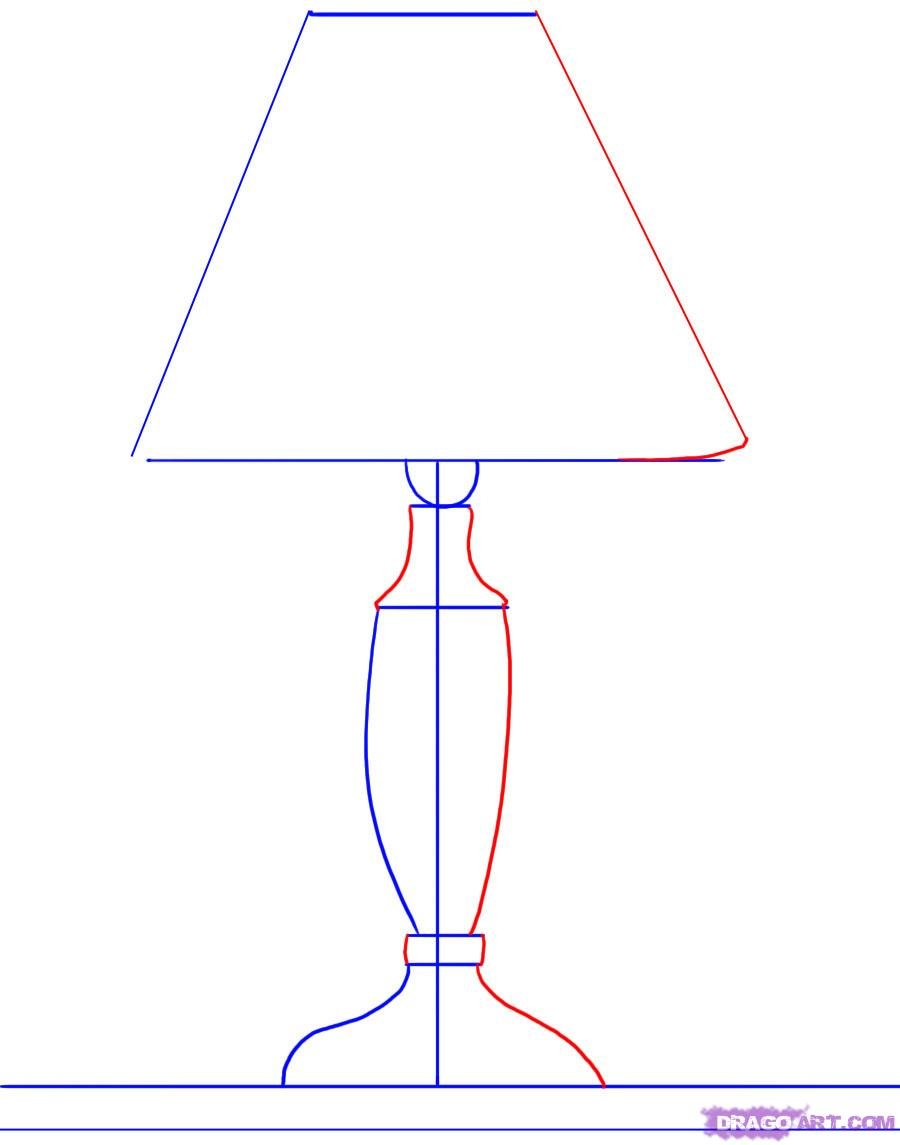 Drawn lamp technical drawing A by a Culture Lamp