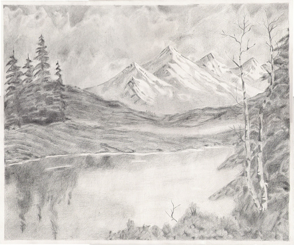 Drawn landscape Topic View Landscape and •