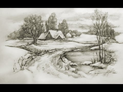 Drawn landscape Speed YouTube Pencil Cool