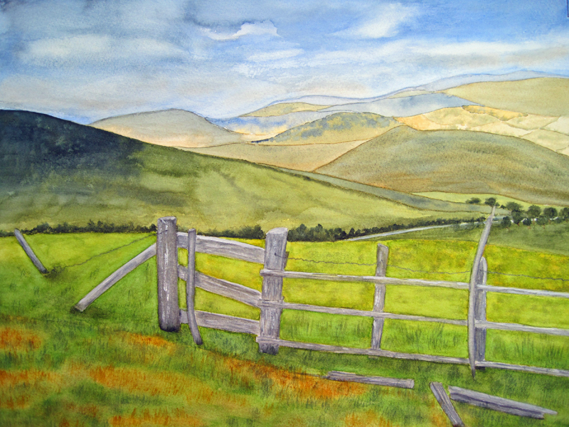 Drawn landscape Is Wales one Scene Landscape