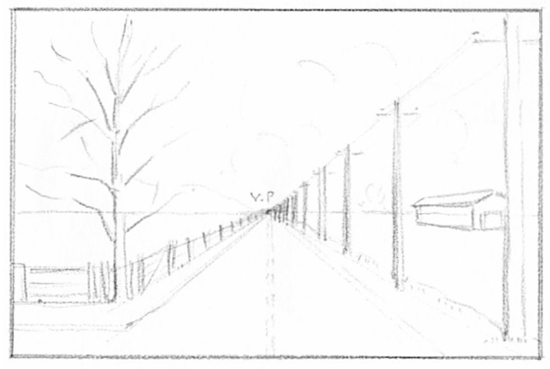 Drawn scenery perspective Landscape  in Barns 1