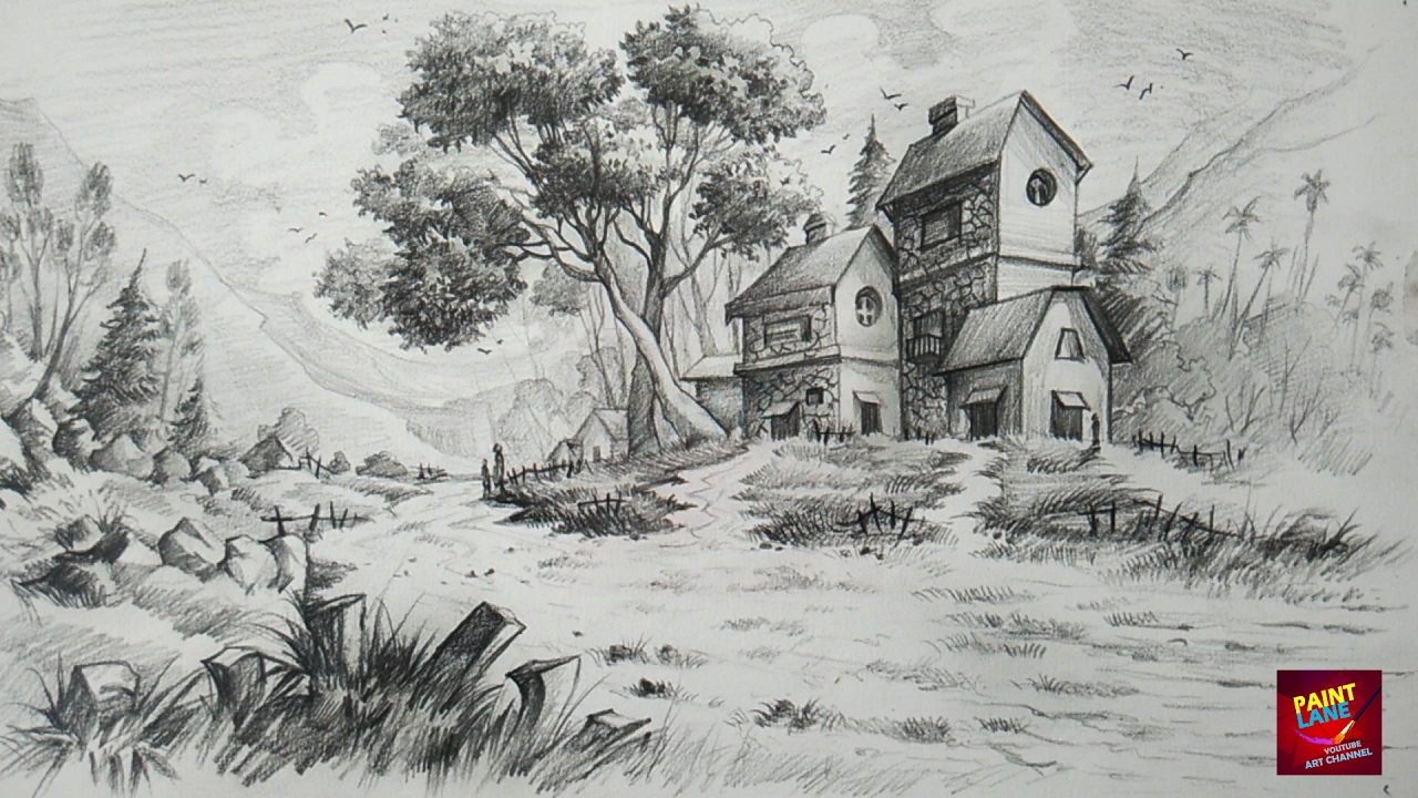 Drawn scenery nirmal Draw Simple With Landscape Unsubscribe