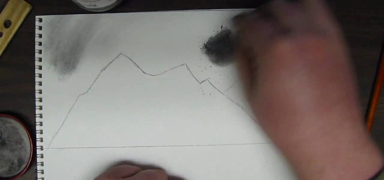 Drawn scenic mountain A to  a Draw