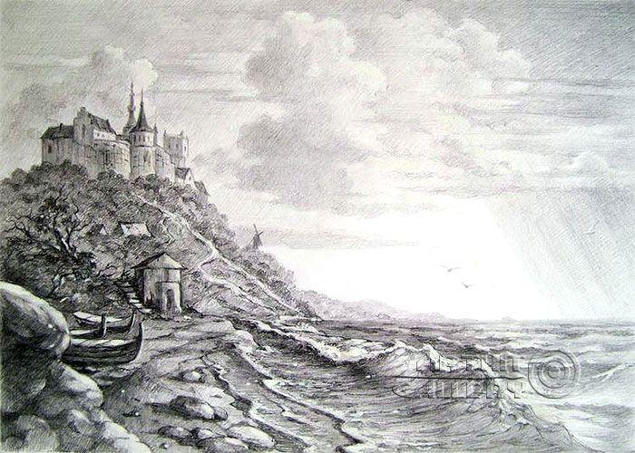Drawn cilff landscape About at best Pinterest 75