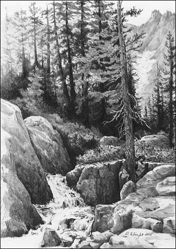 Drawn cilff landscape 97 images Rocks Pencil to