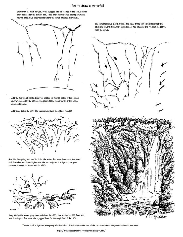 Drawn cilff simple Worksheets to to Draw Draw