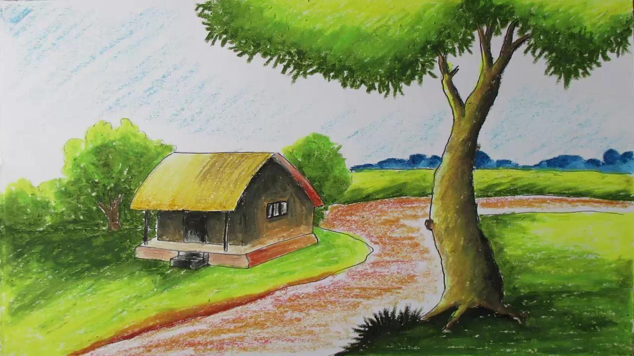 Drawn scenery nirmal Landscape Episode Draw 6 YouTube