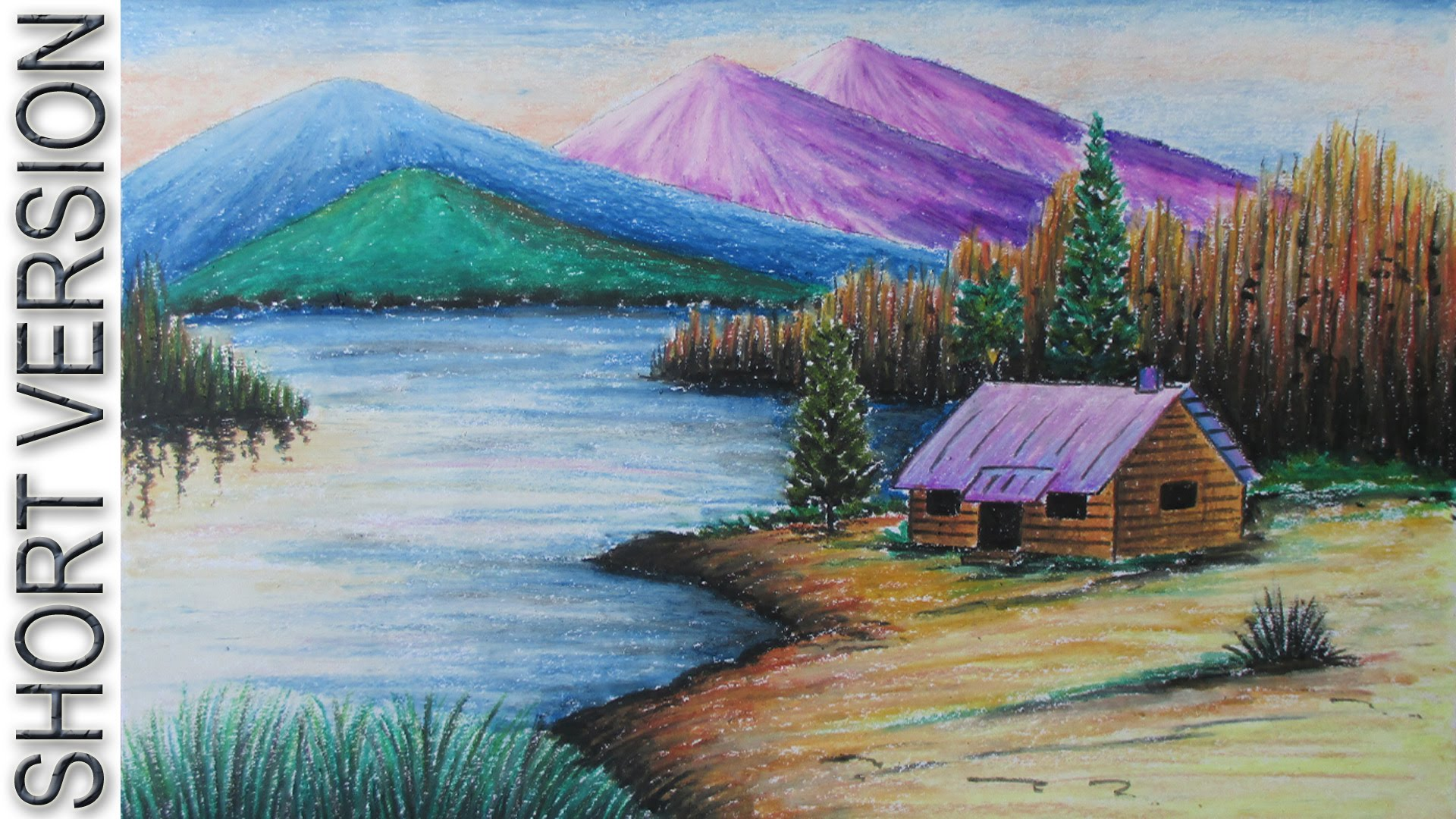 Drawn scenic crayon How with to a Draw