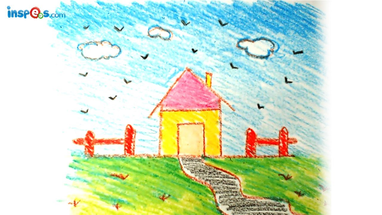 Drawn scenic simple How Landscape How YouTube House