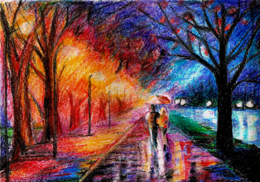 Drawn scenic crayon  DeviantArt II drawing by