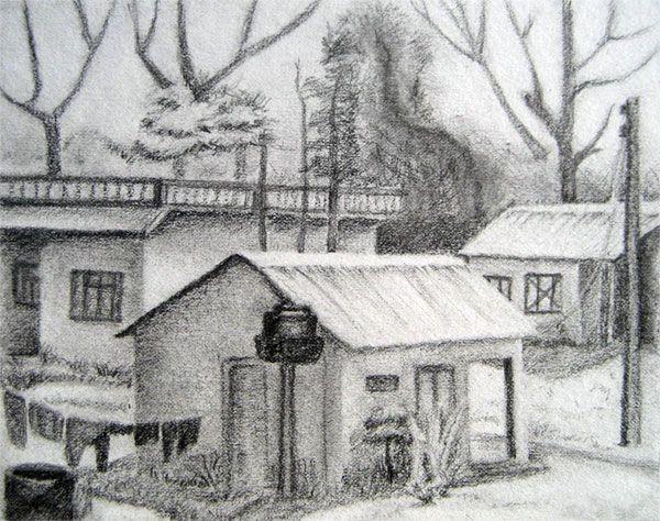 Drawn landscape easy 45 Shopper Pencil Landscapes