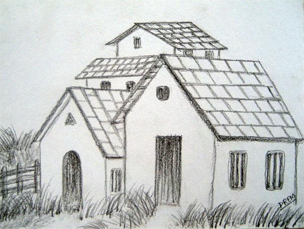 Drawn landscape easy Drawings Landscape Easy Easy Pencil
