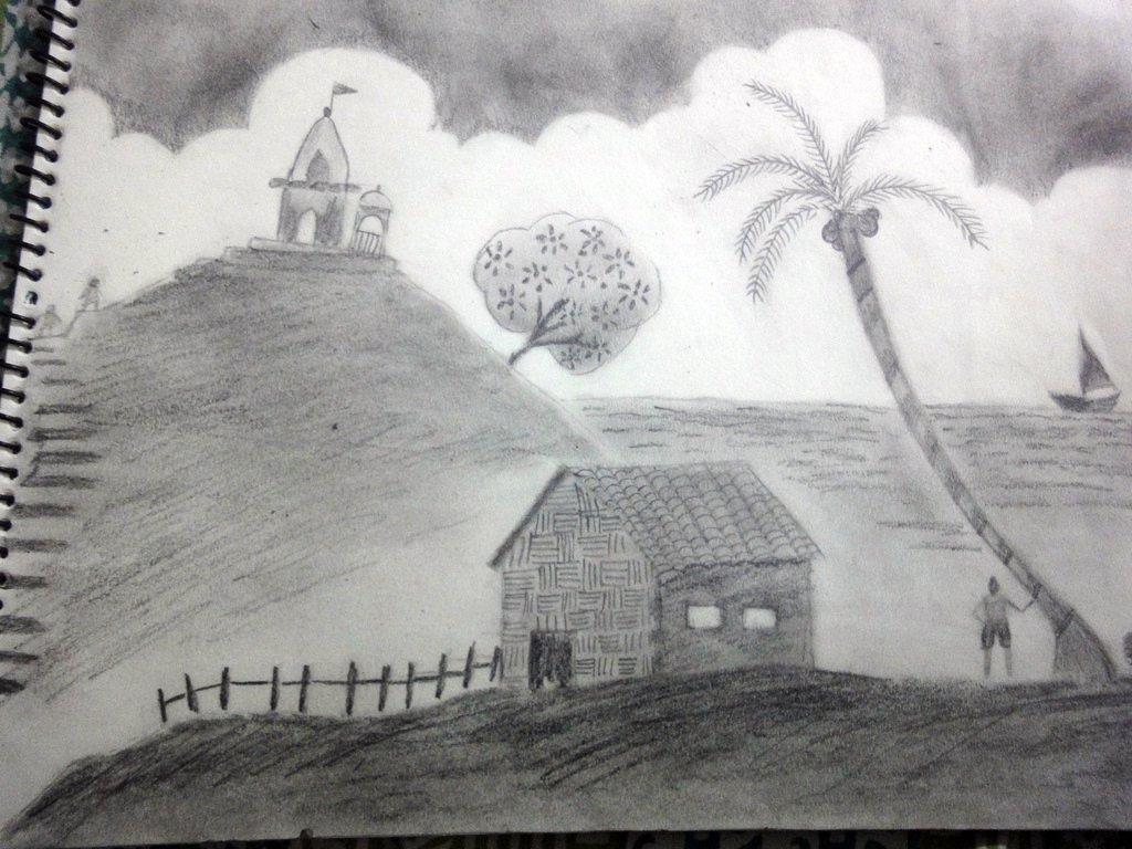 Drawn landscape easy Shading Shading Pencil on landscape