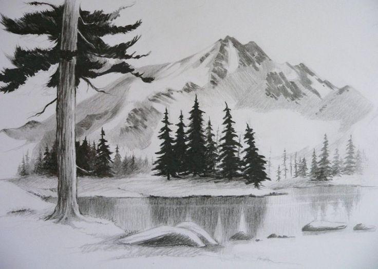 Drawn landscape easy About pencil landscapes on Pinterest