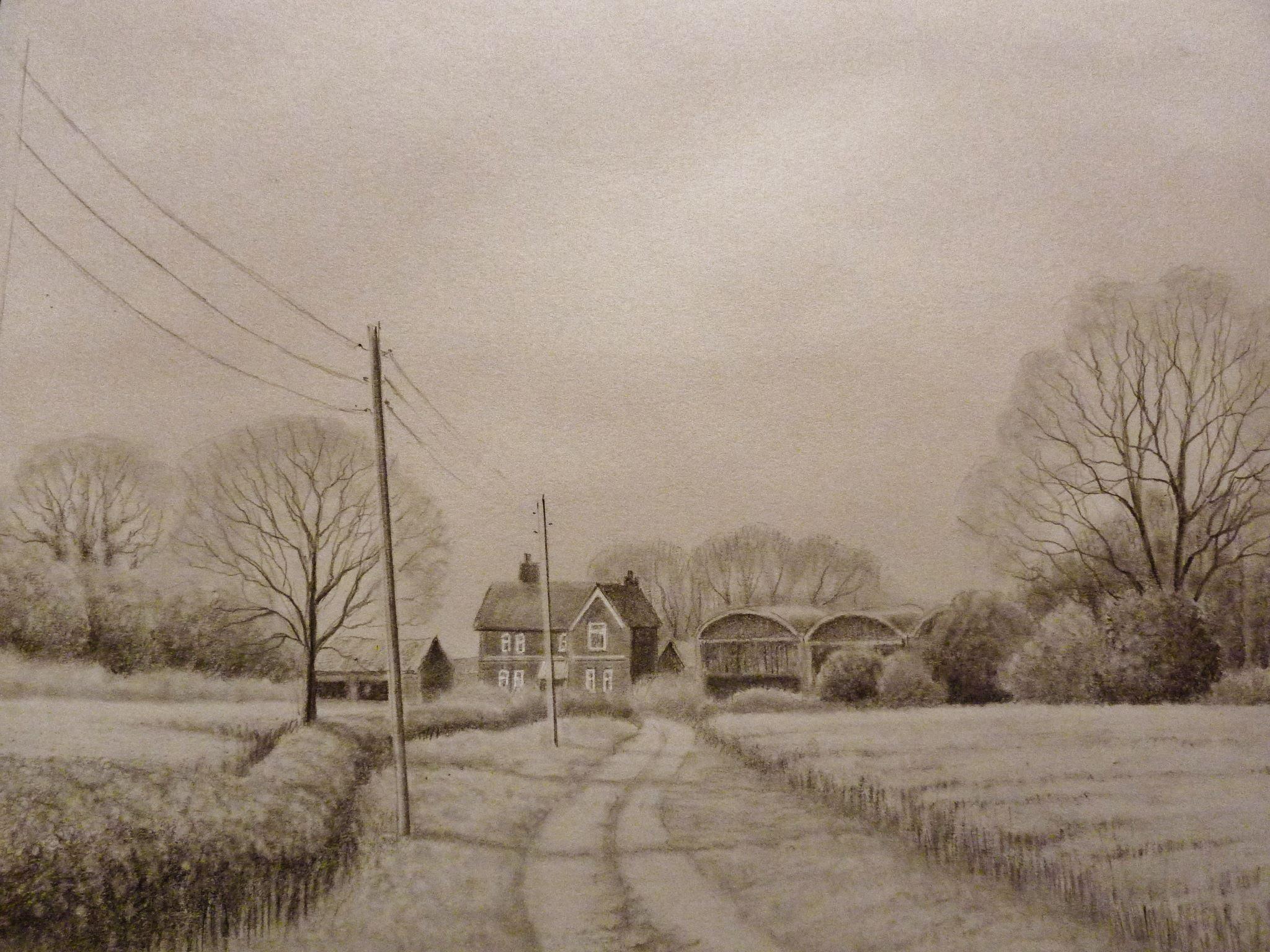 Drawn road pencil drawing  drawing Time YouTube farm