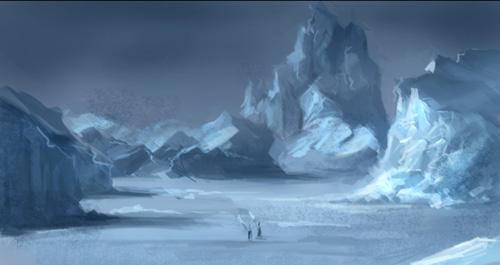 Drawn snow ice mountain Photoshop sketch area environmental environmental