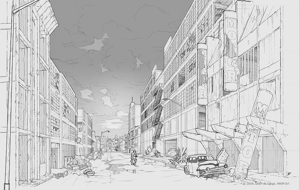 Drawn background anime Big Game Draw Environments Environment