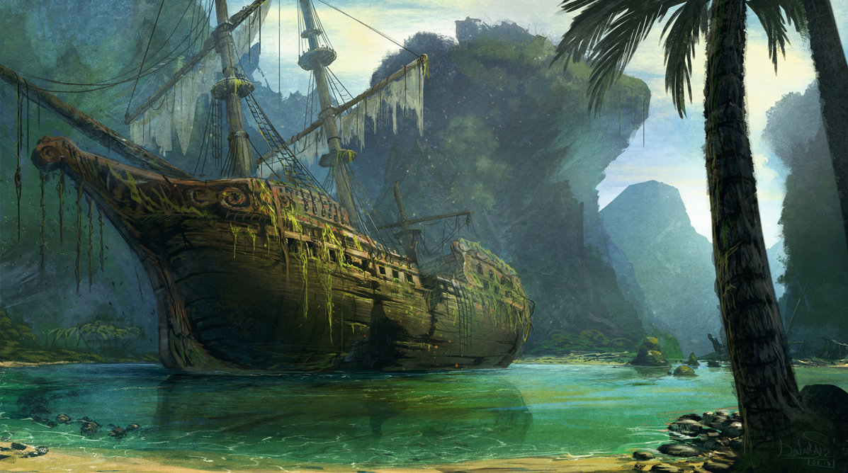 Drawn ship pirate shipwreck By  ~IIDanmrak lagoon deviantART