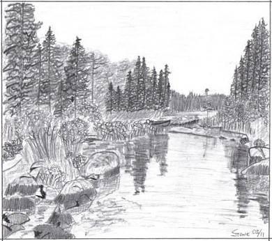 Drawn river farm landscape Drawing Tips  Landscapes Pinterest