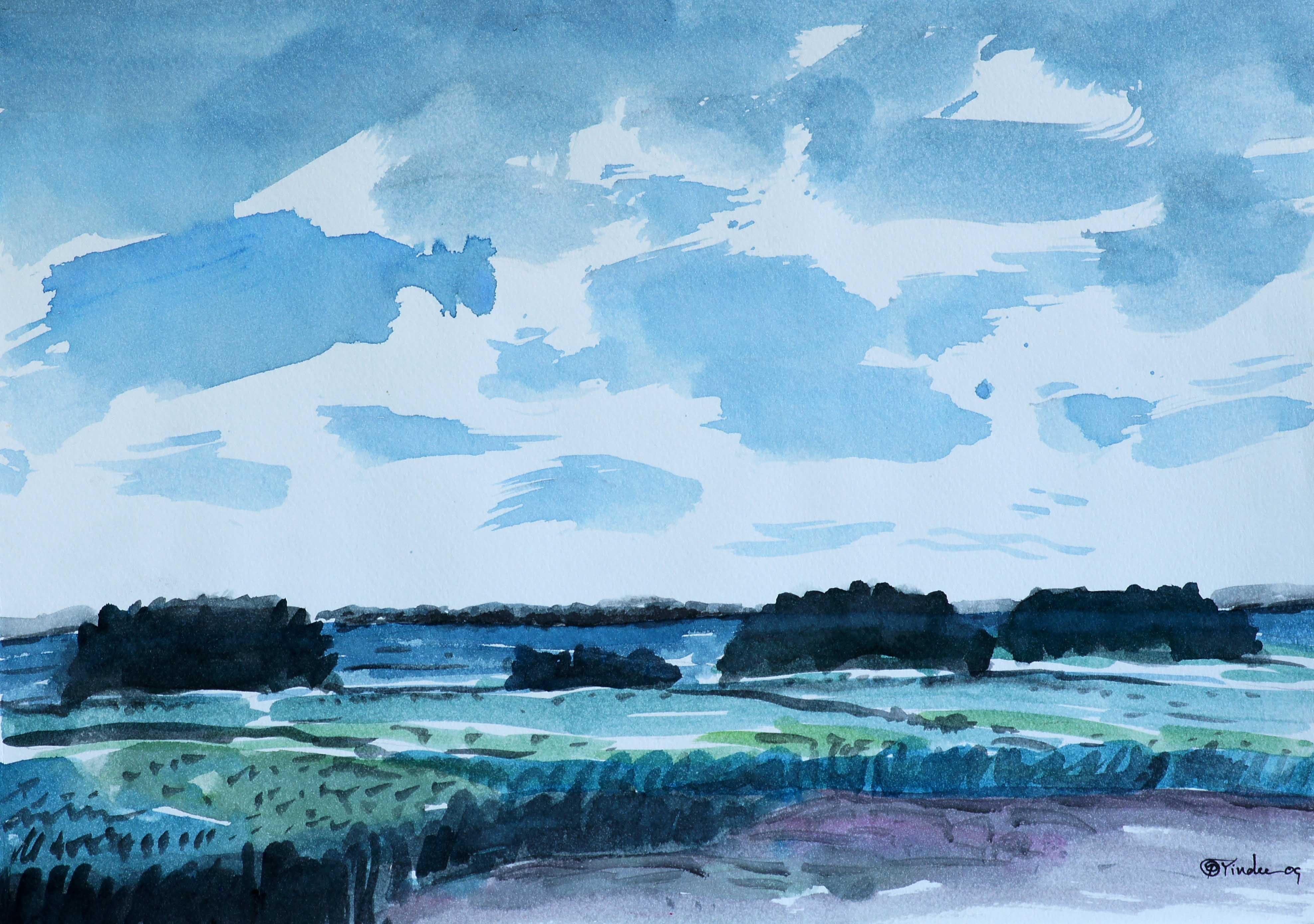 Drawn landscape Pracha by : Drawing 2