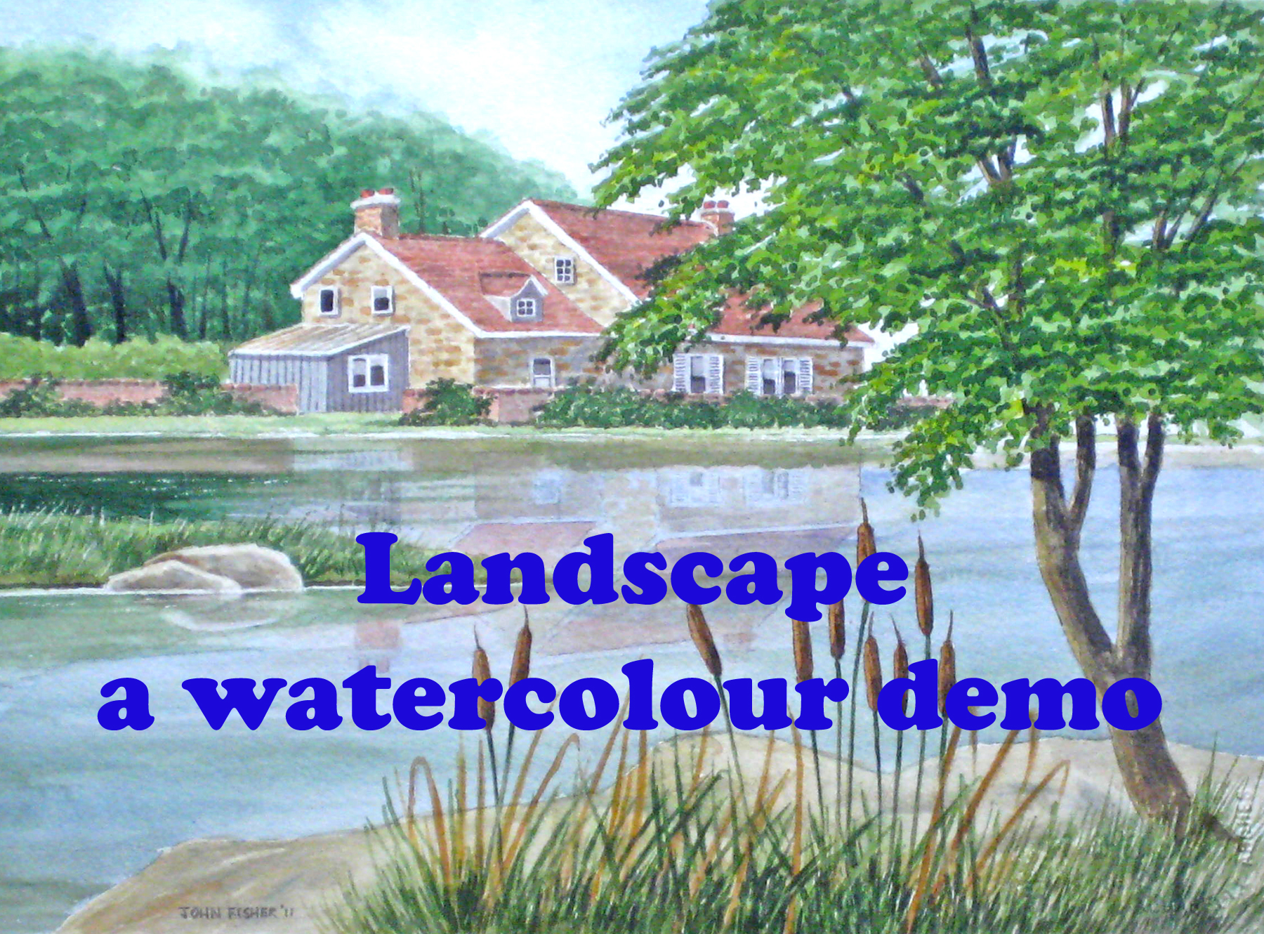 Drawn scenery water colour My Watercolor Paint Landscape a