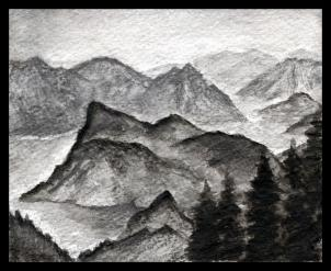 Drawn mountain realistic Realistic draw 4 landscape mountains
